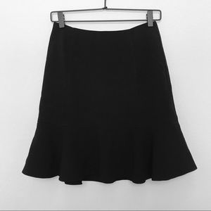 Bebe Fit and Flare Black Polyester Skirt